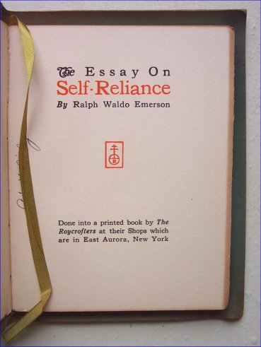 Emerson Essay Self Reliance